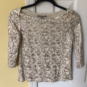 Gorgeous BR gold sequin top!